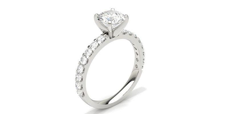 side stone diamond ring