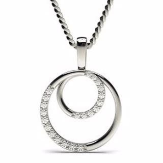 Circle Diamond  Pendant - Valentine
