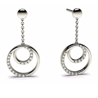 Valentine Pave Earrings