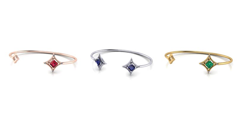 Gemstone Cuffs