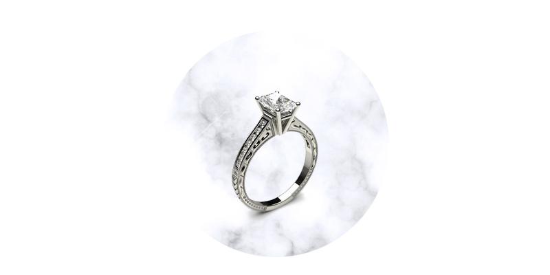 Radiant Shaped Diamond Engagement Rings