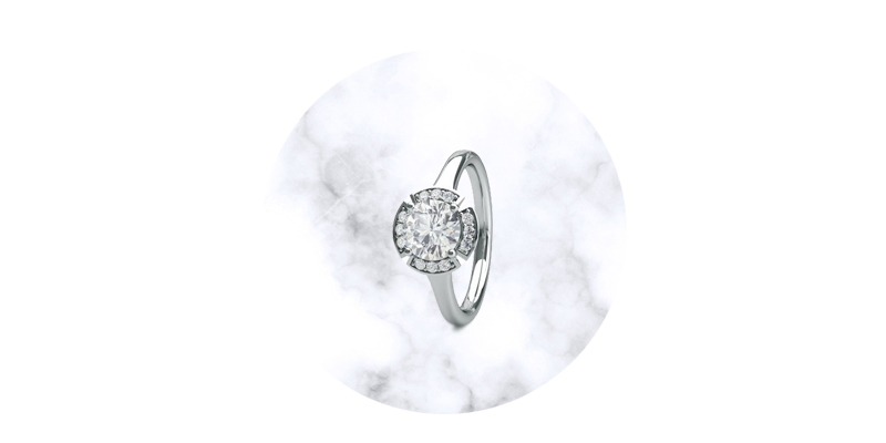 Round Classic Solitaire Engagement Ring