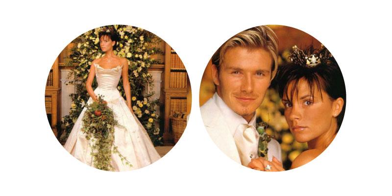 Victoria Adams and David Beckham