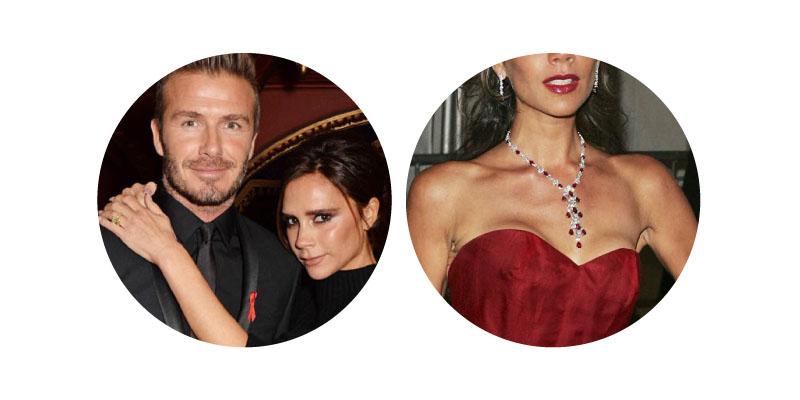 David & Victoria Beckham - Diamond Necklace