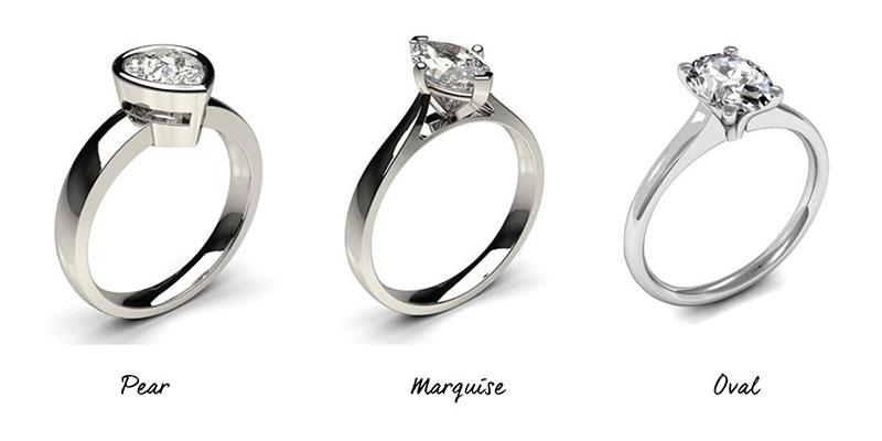 Engagement Rings - Short Fingers