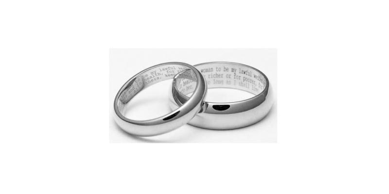 Engagement Rings - Engrave Your Vows