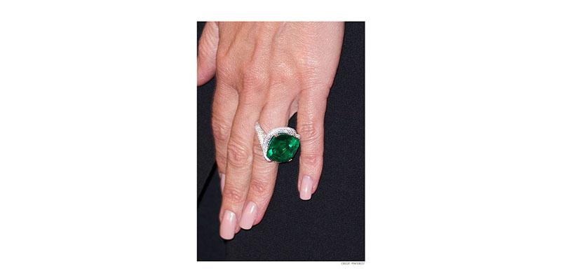 Cushion Cut Emerald Diamond Ring