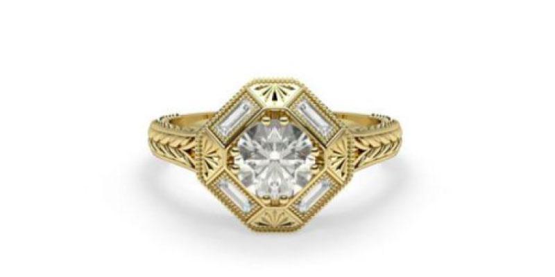 art deco vintage style rings