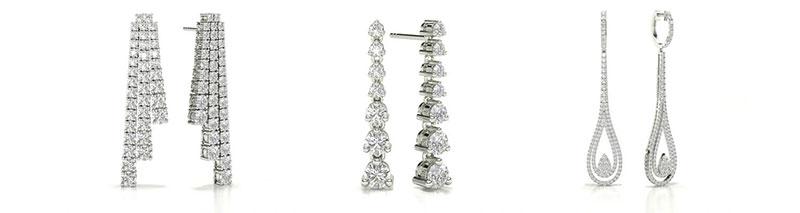 Statement Diamond Drop Earrings