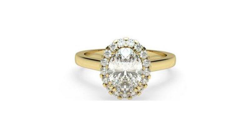 Halo Setting Diamond Ring