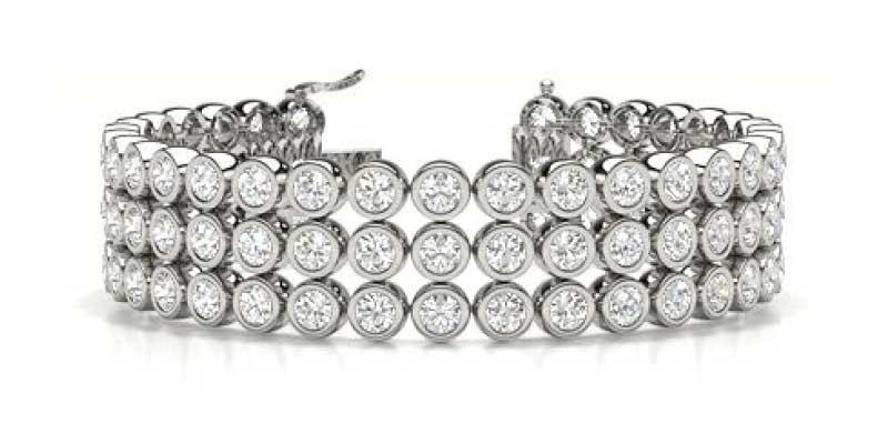 multi row tennis bracelet
