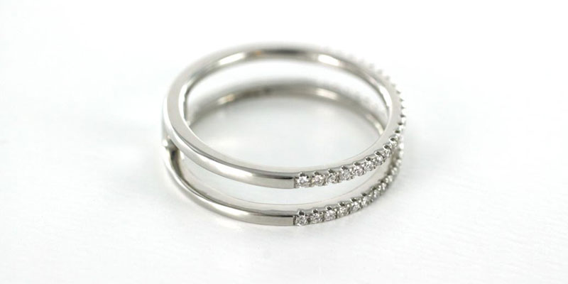 Platinum fashion Engagement Ring