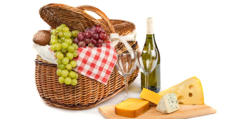 Wine and Cheese Hamper - Bridesmaid Gift
