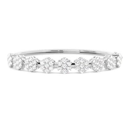 Prong Setting Round Diamond Bangle