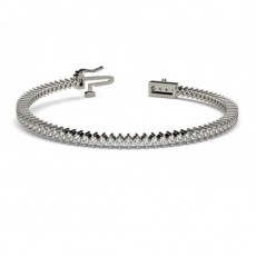 2 Prong Setting Tennis Bracelet