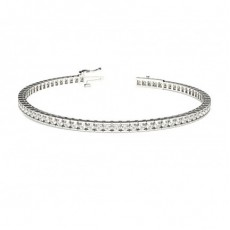 Channel Setting Tennis Bracelet