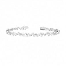 Full Bezel Setting Round Diamond Designer Bracelet