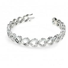 Pave Setting Round Diamond Designer Bracelet