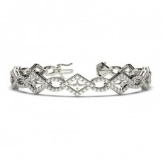 Prong Setting Round Diamond Designer Bracelet