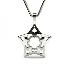 0.05ct. Prong Setting Round Diamond Delicate Pendant