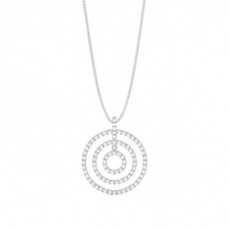 Prong Setting Round Diamond Circle Pendant