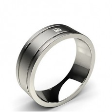 7.00mm Studded Comfort Fit Mens Wedding Band