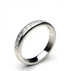 0.55ct. Channel Setting Half Eternity Diamond Ring