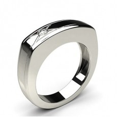 0.10ct. Full Bezel Setting Mens Ring