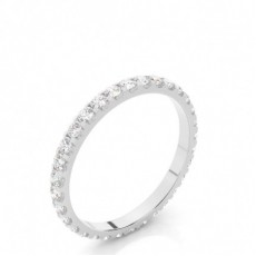 4 Prong Setting Full Eternity Diamond Ring