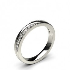 2.60mm Studded Flat Profile Diamond Shaped Band