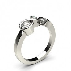 Channel & Prong Setting Round Diamond Fashion Ring